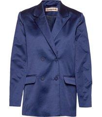 madelin satin blazer colbert blauw custommade