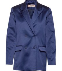 madelin satin blazers over d blazers blauw custommade