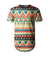 camiseta masculina longline étnica tribal africana md07