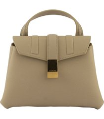agnona pochette beige shoulder bag