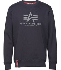 basic sweater sweat-shirt tröja blå alpha industries