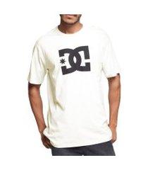camiseta dc shoes star snow branca tamanho:gg incolor