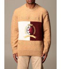 hilfiger collection sweatshirt hilfiger collection pullover in alpaca blend with logo