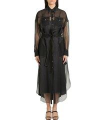 brunello cucinelli organdie pinafore dress