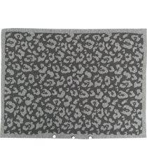 ami amalia leopard print pillow case - grey