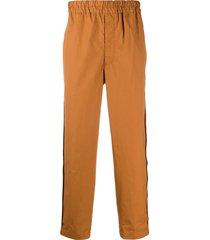 comme des garçons shirt poplin tapered trousers - brown
