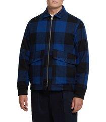 men's woolrich buffalo check jacket