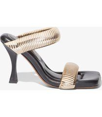 proenza schouler square padded snake chain sandals /gold 36