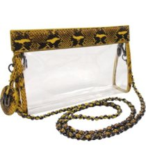 nu women zoe braided chain strap clear purse