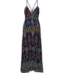 vest pepper's maxi dress galajurk blauw desigual