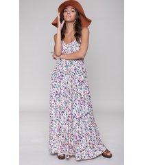 colourful rebel 10280 sophie aquarel smock maxi dress multicolor-