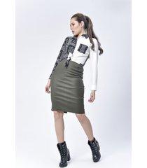 falda dama verde di bello jeans  classic skirt ref v021