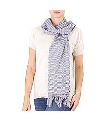 cotton scarf, 'antigua mist' (guatemala)