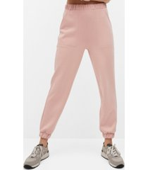 mango elastic waist pants