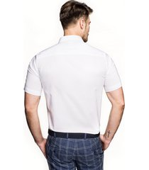 koszula bexley 2488/4 krótki rękaw custom fit biały