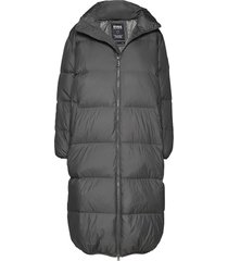 elina jacket gevoerde lange jas grijs svea
