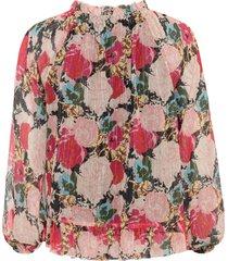 gedessineerde chiffon blouse met glittereffect