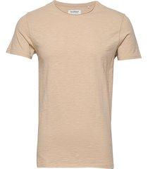 konrad slub s/s tee t-shirts short-sleeved beige gabba