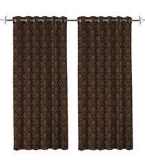 cortina em poliéster com ilhos em metal mystic taupe 400x230cm