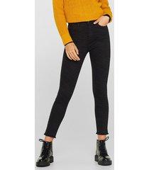 jeans bootcut high rise estampado cebra negro esprit