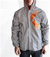 chaqueta reflectiva impermeable para moto + tula
