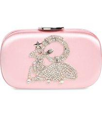 giambattista valli zodiac embellished clutch - pink