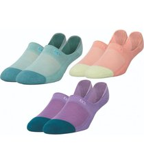 calcetin mujer invisible tripack multicolor pair of thieves