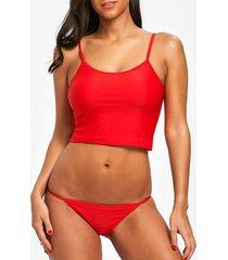 cami strap string low waist bikini