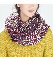 donna sciarpa ad anello pesante calda colorata antivento da outdoor