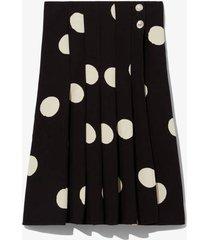 broken dot print skirt