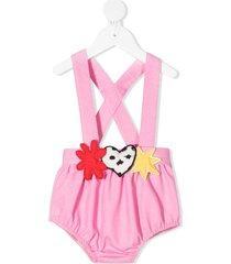 raspberry plum moon romper shorts - pink