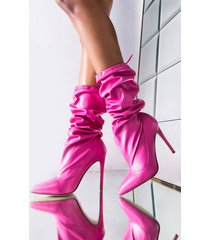 akira azalea wang why would i ever kiss you stiletto bootie in pink