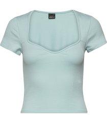margot bustier top t-shirts & tops short-sleeved blå gina tricot