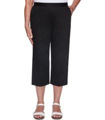 alfred dunner women's missy classics twill trouser pocket capri pants