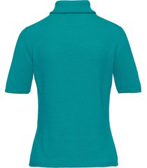 coltrui model rebecca van 100% kasjmier van peter hahn cashmere turquoise