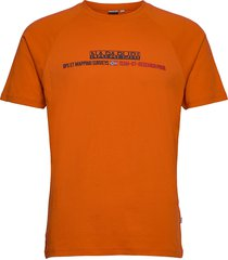 sastia t-shirts short-sleeved orange napapijri