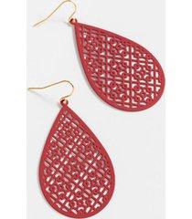 sheila filigree teardrop earrings - burgundy