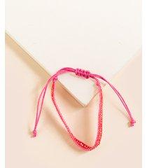 women's dennie beaded friendship bracelet in pink by francesca's - size: one size