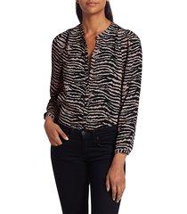 joie women's kayva zebra print blouse - shell pink - size xs