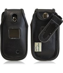 turtleback lg revere 3 vn170 executive black leather case flip phone case with r