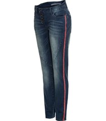 jeans boyfriend con bande laterali (nero) - rainbow