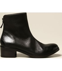 marsell flat booties marsèll listo zip ankle boot in genuine nubuck leather