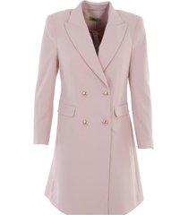 k-design jurk m605 vieux rose blazer look - size 36 / s