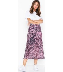 topshop pink zebra mesh midi skirt midikjolar
