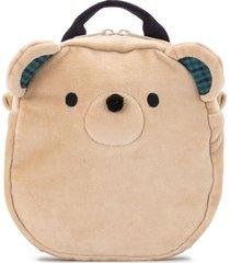 familiar teddy bear backpack - brown