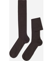 calzedonia tall wool and cotton socks man brown size 40-41