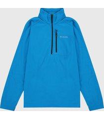 chaqueta azul turquesa columbia fast trek ii 1/2 zip