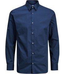 blauw jack&jones jprnon iron shirt l/s noos overhemd