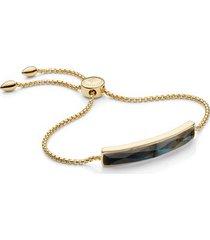 gold baja facet bracelet labradorite