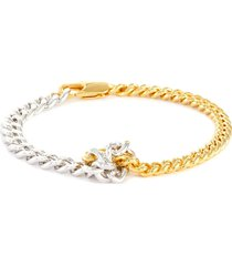 'ouro' knotted gold plated double chain bracelet